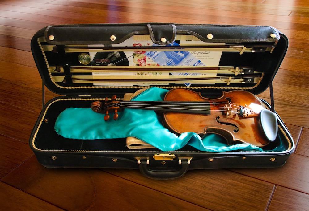 """violín Antonio Stradivari """"Auer"""" de 1691 que participara en los conciertos de la BOS en Musika-Musica 2017"""