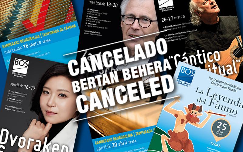 Información sobre los conciertos cancelados