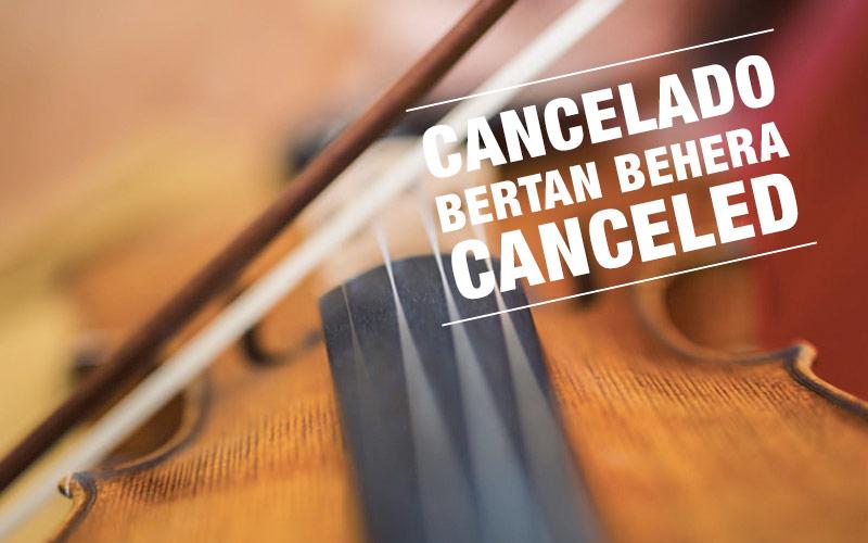 Cancelado el concierto de Cámara del 9 de noviembre